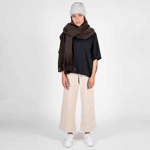 Jan 'n june Fleece Scarf Manon mocca full outfit