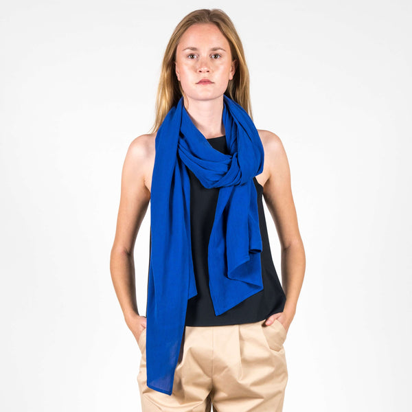 Jan 'n June Summer Scarf Ross Electric Blue