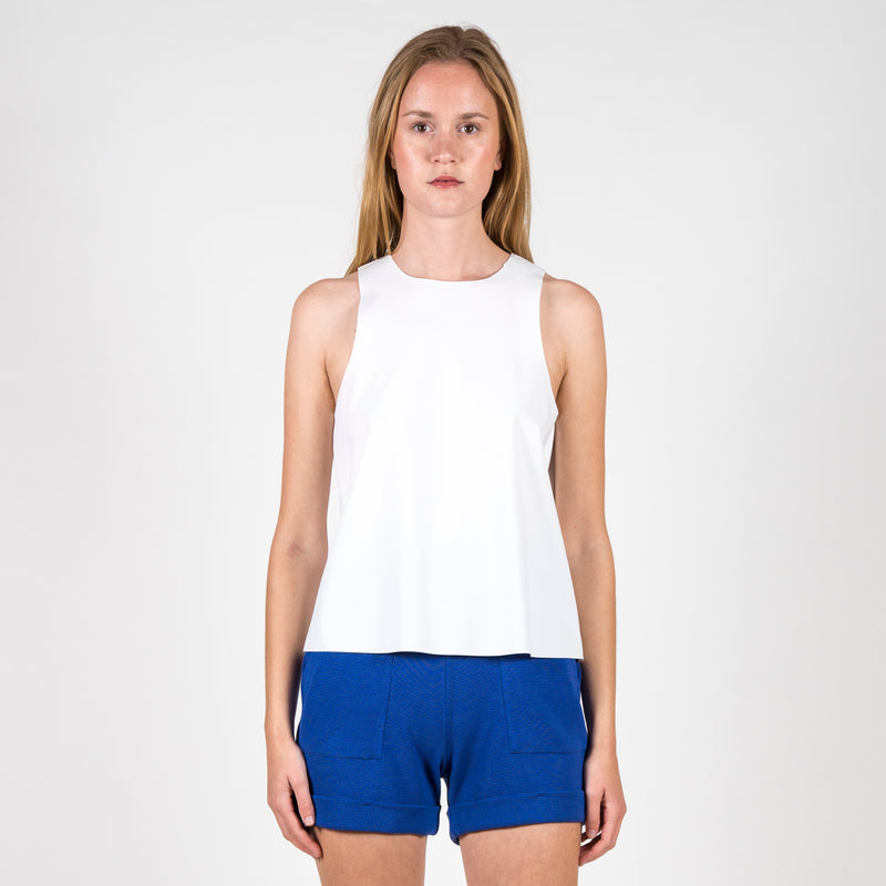 Top Amal Neoprene White