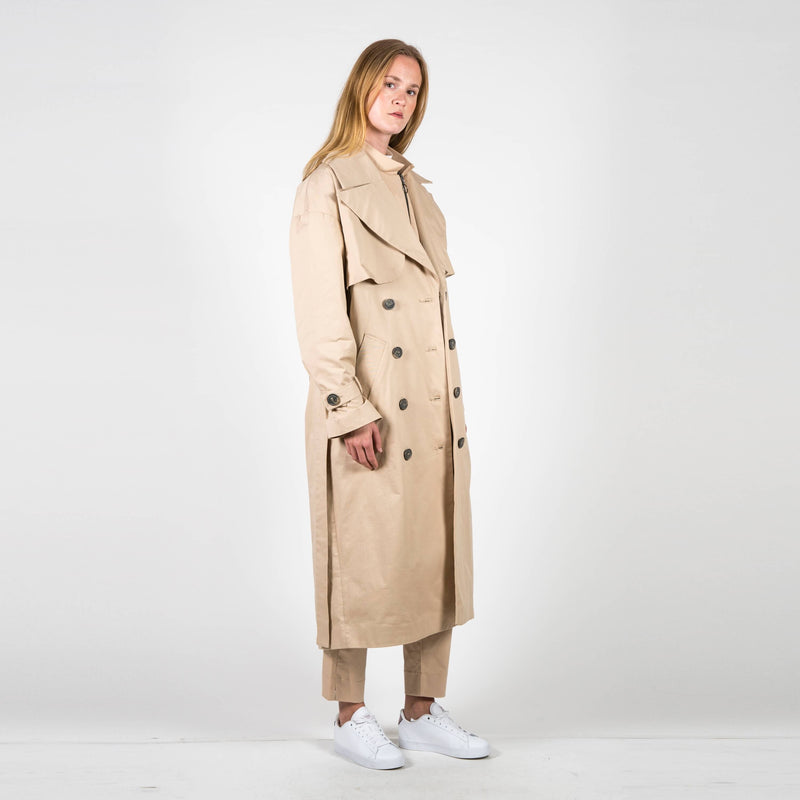 Jan 'n June Trench Coat Milano Nude