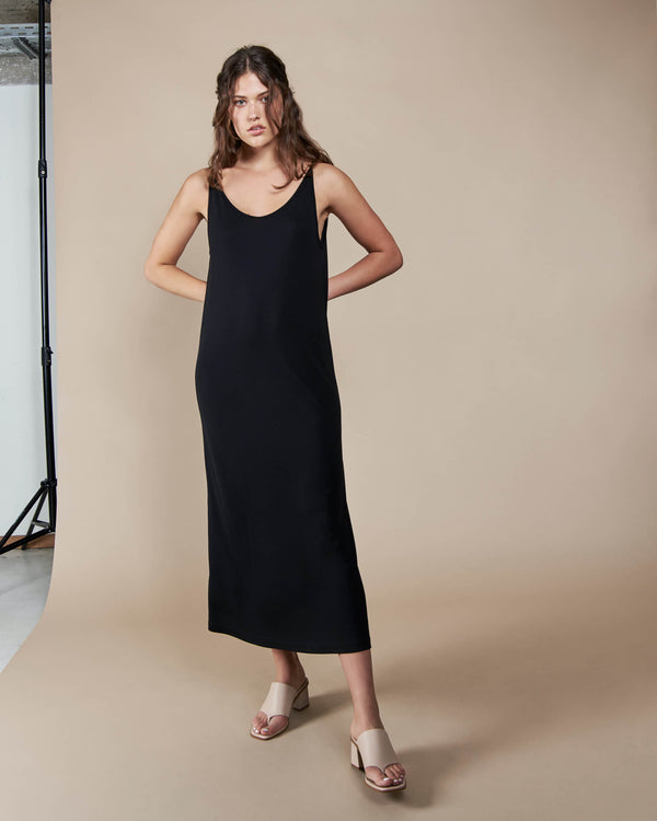 Midi Dress Triangle Black