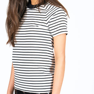 Quito Striped Black White