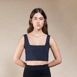 Crop Top Cancun Neoprene Black