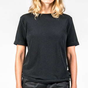 Jan 'n June Oversized Minirib T-Shirt Boy Black