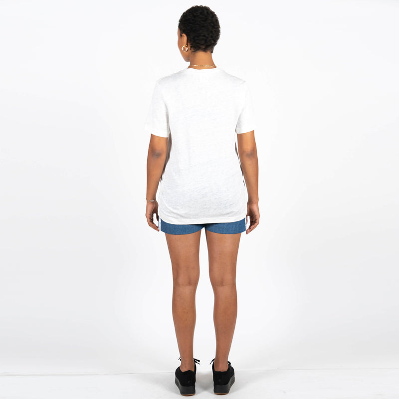 Jan 'n June Linen T-Shirt Vector White Back