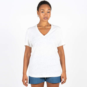 Jan 'n June Linen T-Shirt Vector White