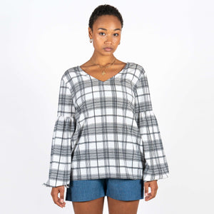 Jan 'n June Blouse Vicenza Checked Front