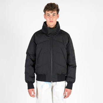 Junli Black Down Jacket Front
