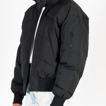Junli Black Down Jacket Detail