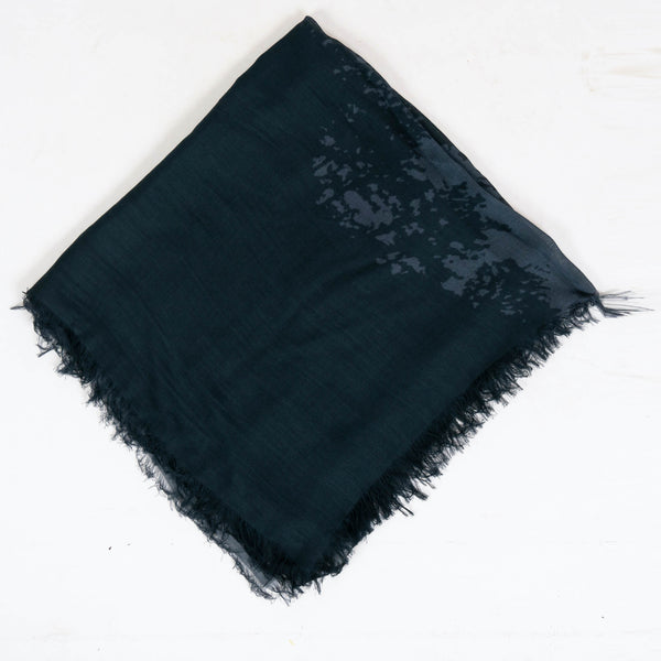 Navy & Black Ink Scarf