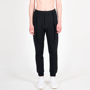 Junli Black Laces Sweatpants