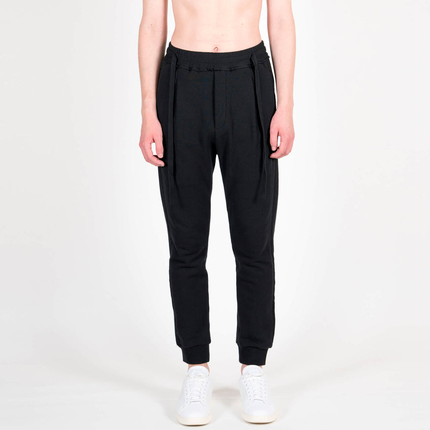 Black Laces Sweatpants