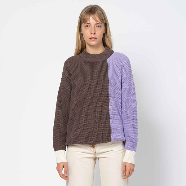 Knit Jumper Soho Tricolor Greige Lavender Off White