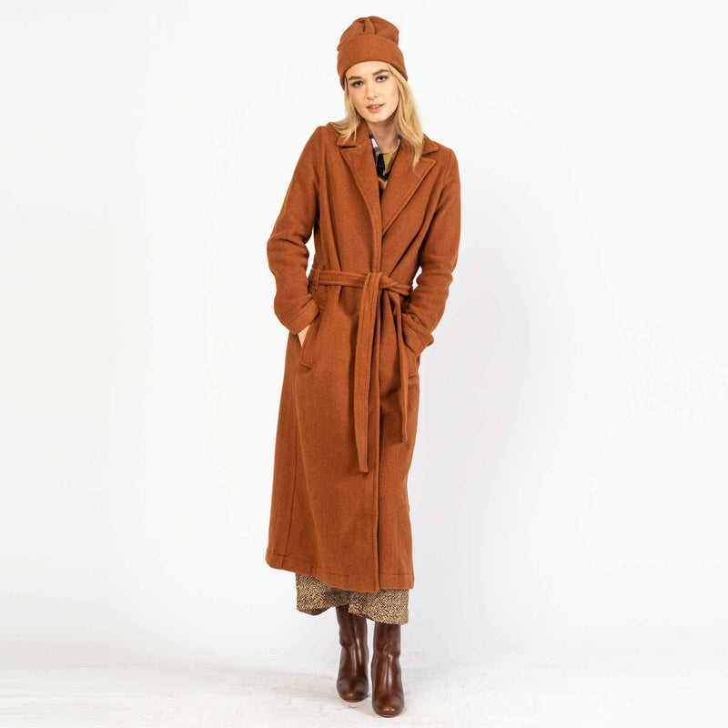 Long Coat Gramarcy Fleece Brick