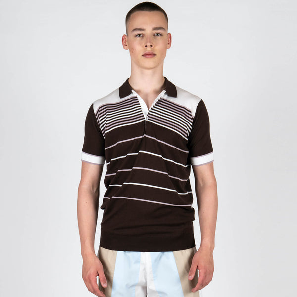 Sea Island Cotton Short Sleeve Polo Shirt