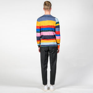 x John Smedley Hand Drawn Rainbow Sweater