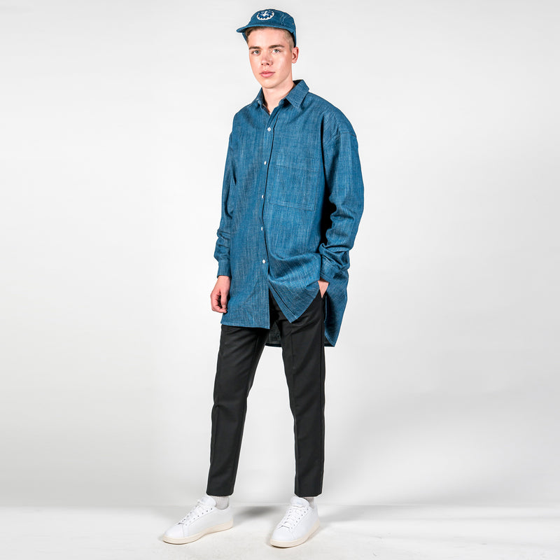 Oversized Triple Seam Denim Shirt