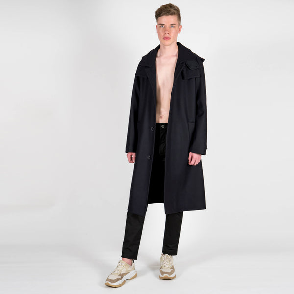 Lou Dalton x Gloverall Wool and Cashmere Dufflecoat