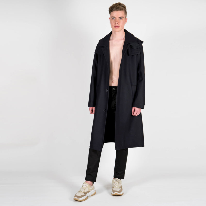x Gloverall Wool and Cashmere Dufflecoat