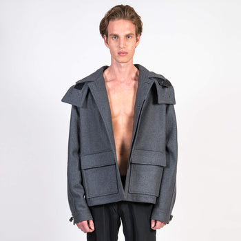 x Gloverall Wool and Cashmere Utility Coat