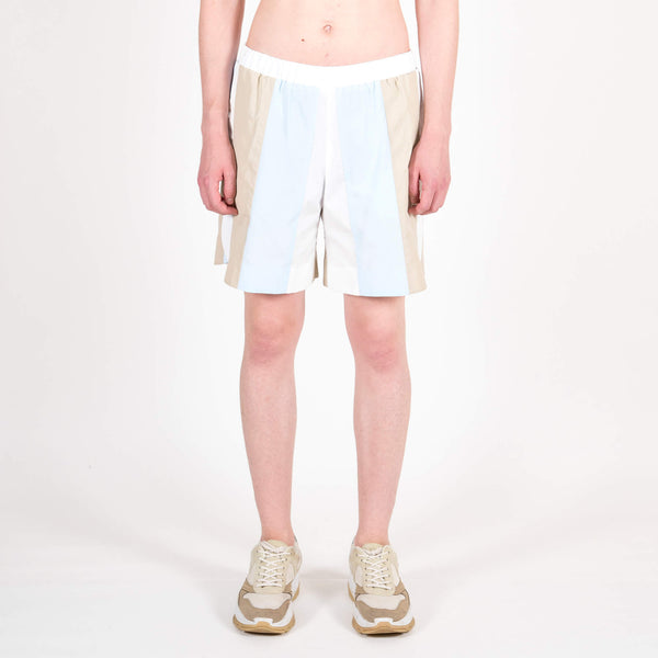 Lou Dalton Panelled Sport Shorts Blue