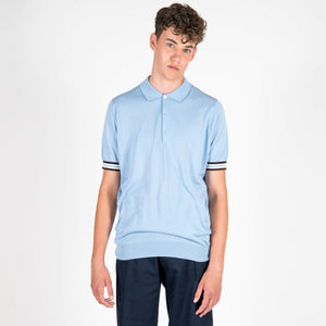 Sea Island Cotton Sports Cuff Polo Shirt
