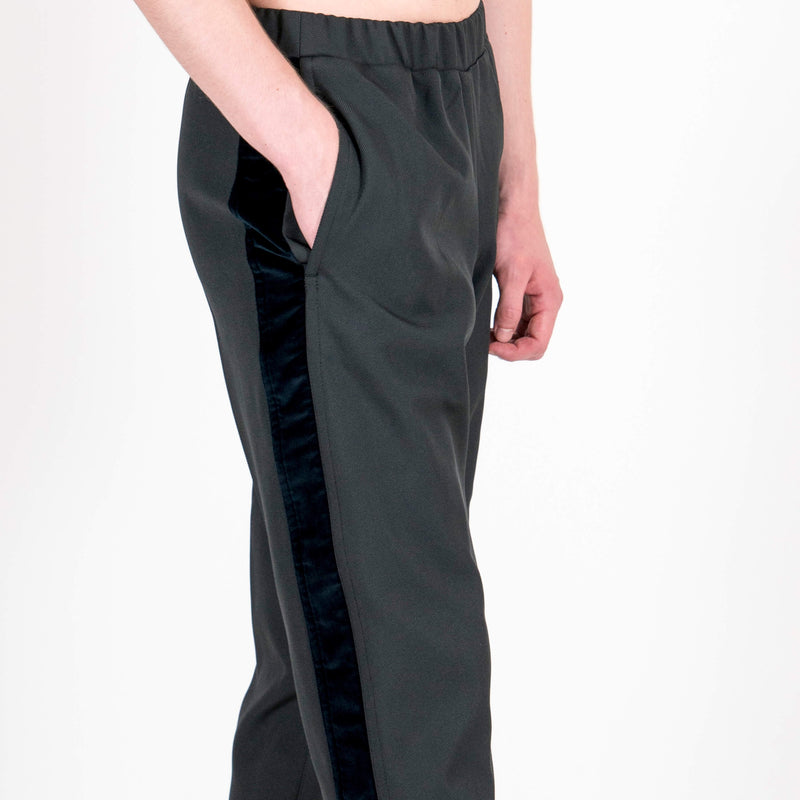 Lou Dalton Velvet Stripe Trackpants Pocket
