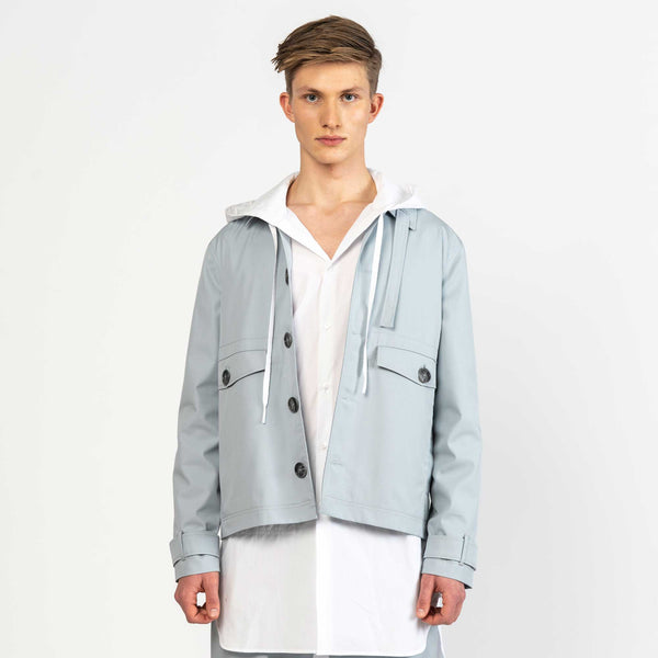 Gabardine Light Blue Coach Jacket