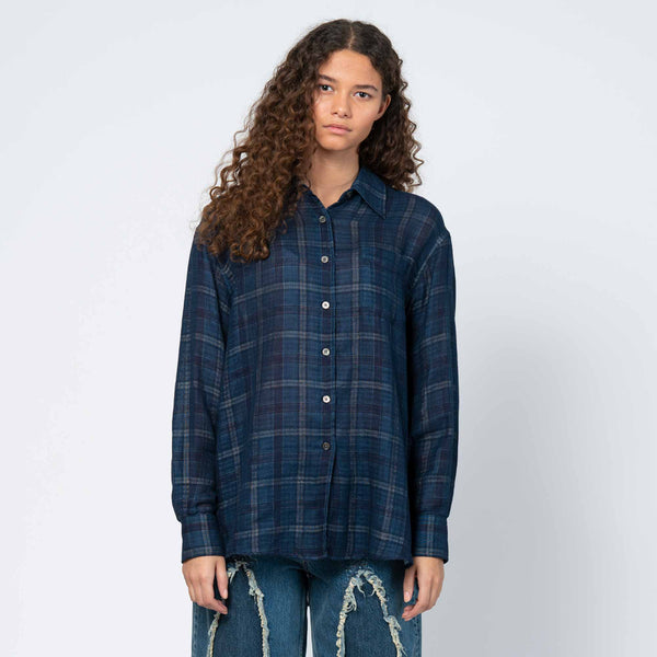 Lend Shirt Blue Check