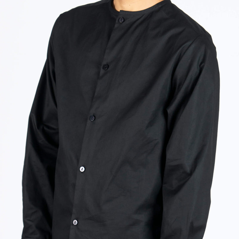Collarless Dress Shirt