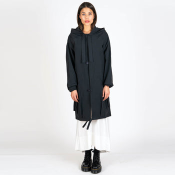 Hooded Button Anorak