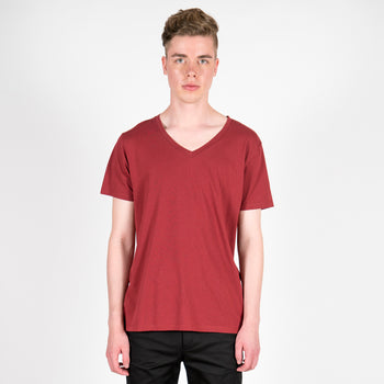 The Bordeaux V-Neck