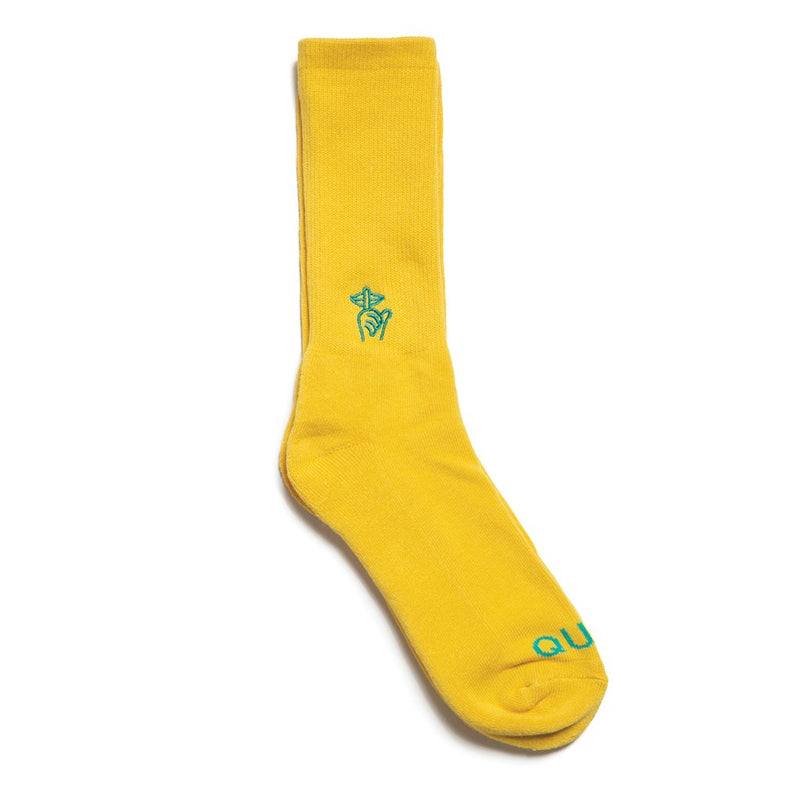 Shhh Socks Yellow