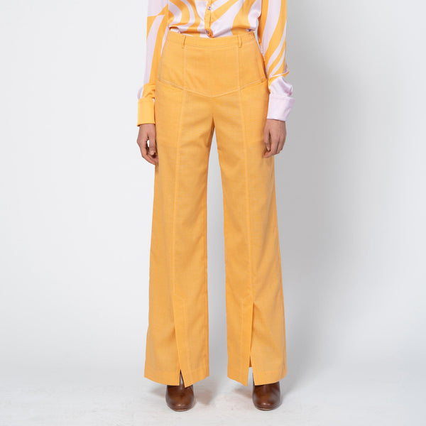 Dilys Trousers Blend Suiting Orange