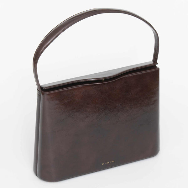 Felix Bag Leather Crinkle Dark Brown