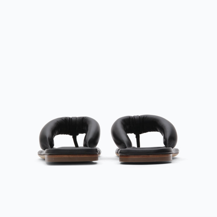 Nella Sandals Leather Black 70 mm