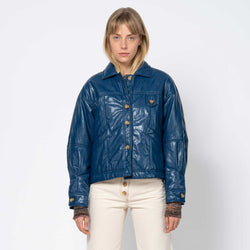 Pippa Jacket Faux Leather Navy