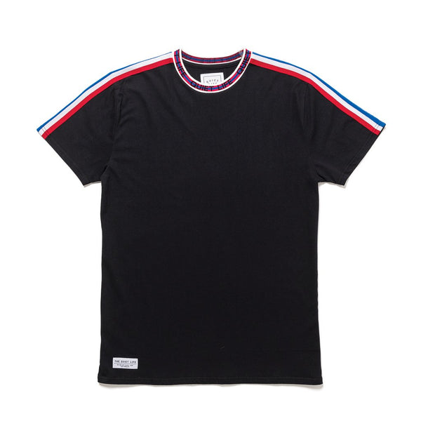 Racing Stripe Jacquard T-Shirt