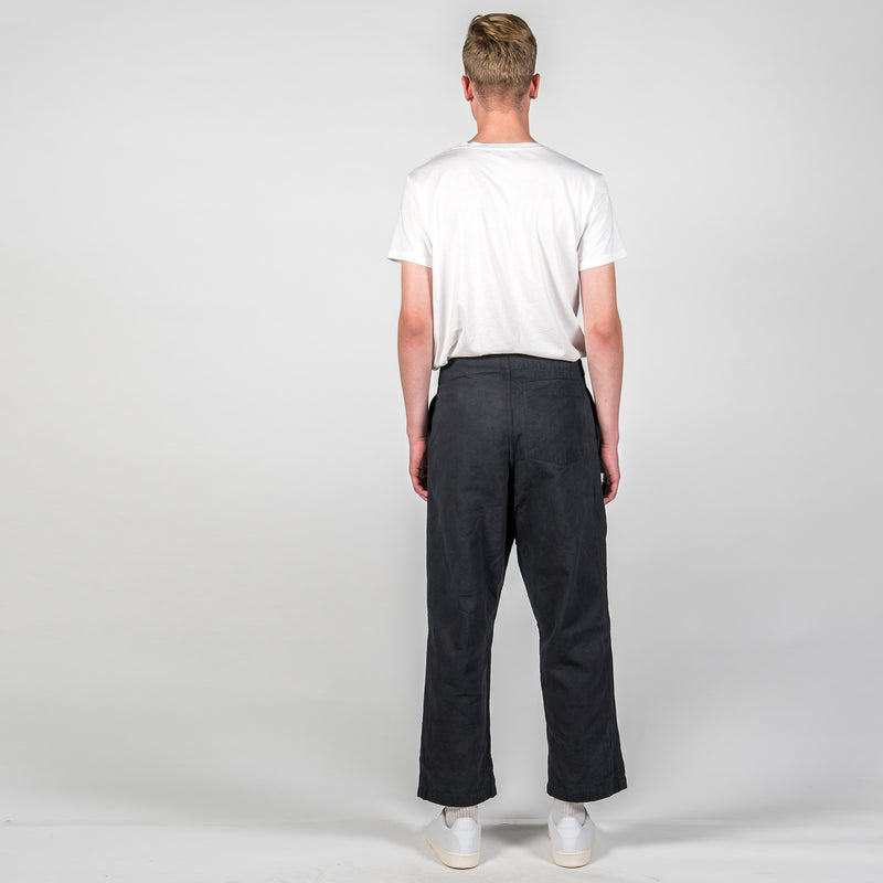Story MFG British Organic Cotton-Twill Trousers Back