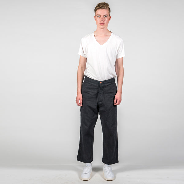 Story MFG British Organic Cotton-Twill Trousers Full