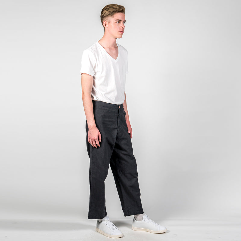 Story MFG British Organic Cotton-Twill Trousers Side