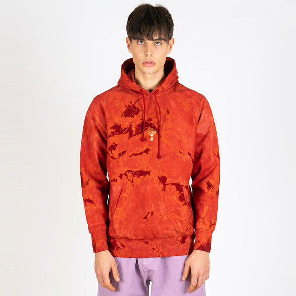 Bloom Hooded Sweat Madder Red Crush