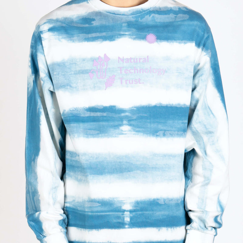 Grateful Tee Longsleeve Tie Dye Natural Technology