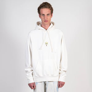Bloom Hooded Sweat Unbleached Ecru