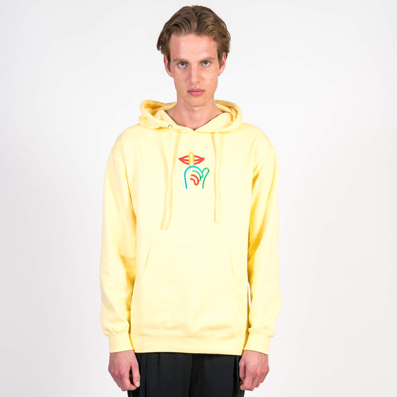 The Quiet Life Rainbow Shhh Hoodie Yellow