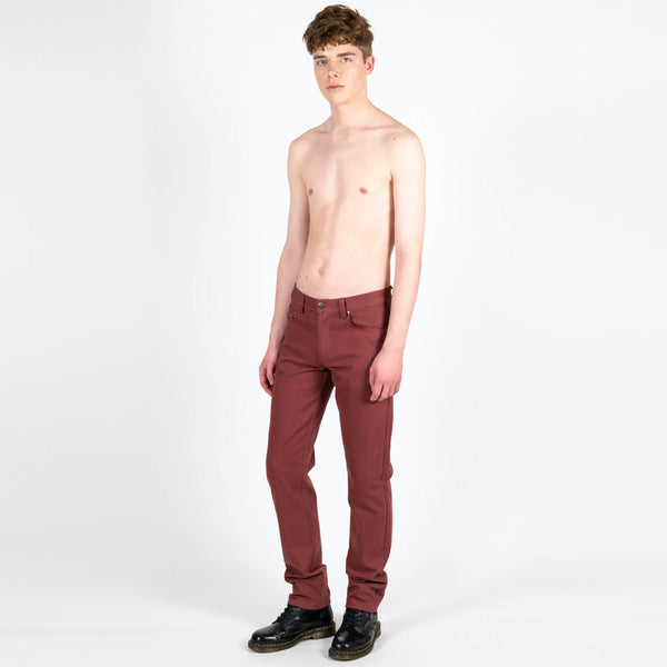 Yang Li x Samizdat Five Pocket Burgundy Jeans