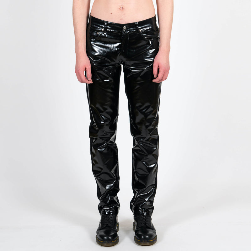 Yang Li x Samizdat Black Vinyl Five Pocket Trousers