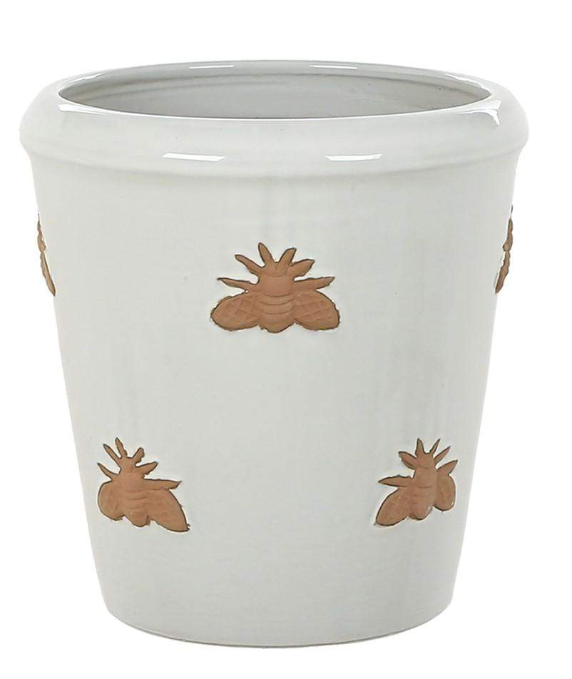 Woodlodge Planters & Pots Full White / 20cm Bumble Bee Planter