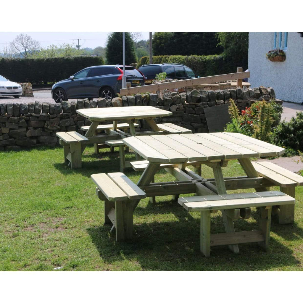 Churnet Valley Garden Tables Churnet Valley Westwood Square 8 Seat Picnic Table