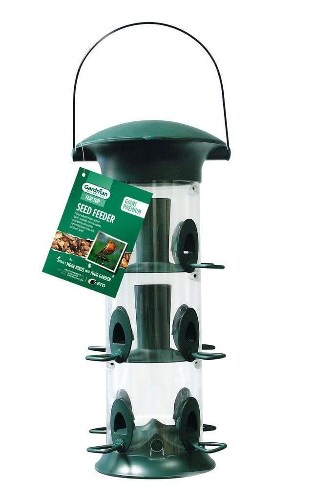 Gardman Seed Feeders Gardman Giant Premium Flip Top Seed Feeder